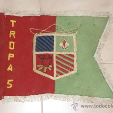 Militaria: BANDERA ORIGINAL DE BOYSCOUTS DE PATRULLA QUETZAL, TROPA GRAN CAPITAN 5 ZARAGOZA, BOY SCOUTS. Lote 35636828