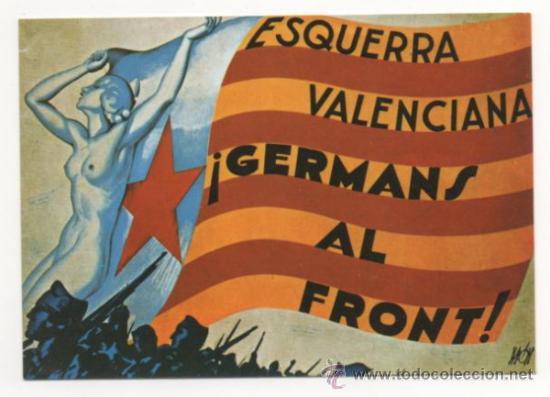 POSTAL ESQUERRA VALENCIANA NUEVA 1979 (Militar - Propaganda y Documentos)