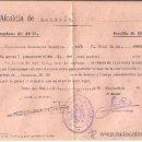 Militaria: PS3383 LOTE DE 2 CONVOCATORIAS DE REEMPLAZO Y UNA DECLARACIÓN, DE 1937 Y 1940. MALGRAT. Lote 35669985