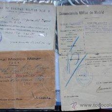 Militaria: DOCUMENTACION DE UN SOLDADO DE LA REPUBLICA. GUERRA CIVIL DECLARANDOLE INUTIL. DEFENSA DE MADRID. Lote 35823253