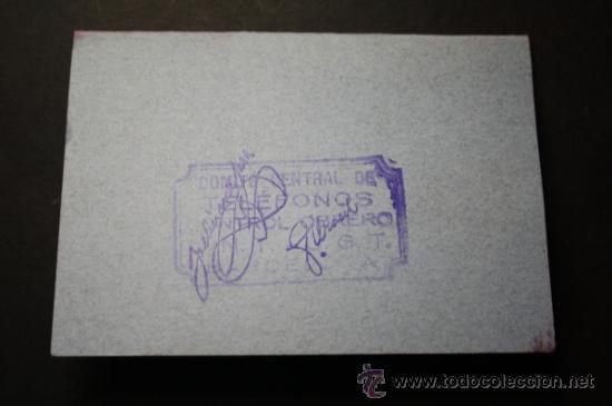 Militaria: Carnet Certificat de Treball Generalitat de Catalunya Año 1938 Chofer Empleado Telefonica - CNT UGT - Foto 4 - 35872181