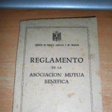 Militaria: REGLAMENTO DE LA ASOCIACION MUTUA BENEFICA CUERPO DE POLICIA ARMADA Y DE TRAFICO 1951. Lote 35905138