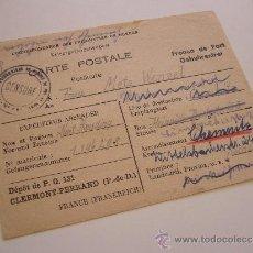 Militaria: DOCUMENTO MILITAR ALEMÁN. CORRESPONDENCIA DE PRISIONEROS DE GUERRA. AÑO 1946. CHEMNITZ.. Lote 36251082