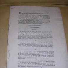 Militaria: AMERICA- FERNANDO VII LA REGENCIA - AUDIENCIAS JUECES LETRADOS CADIZ 1812 ANTONIO CANO MANUEL . Lote 36715852
