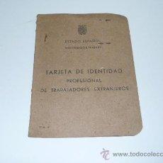 Militaria: ANTIGUO CARNET DE IDENTIDAD PARA TRABAJADORES ESTRANJEROS, DE ANDORRA. 1943. Lote 36857075