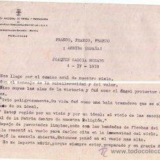 Militaria: PILOTO JOAQUIN GARCIA MORATO, AS DE LA GUERRA CIVIL ESPAÑOLA.PARTE FALANGE ANIVERSARIO DE SU MUERTE. Lote 37068348