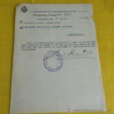 Militaria: OFICIO REGIMIENTO DE FORTIFICACION 5, BATALLON DE TRANSMISIONES DE MARRUECOS. Lote 37176733