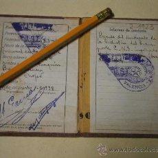 Militaria: CARNET DE LA UGT, SINDICATO DE TRANSPORTE, 1938. Lote 37300423