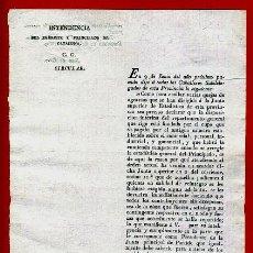 Militaria: DOCUMENTO INTENDENCIA EJERCITO CATALUÑA , CIRCULAR , 1819 , ORIGINAL , C7. Lote 37505934