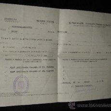 Militaria: DOCUMENTO MILITAR - TENIENTE CORONEL DE ARTILLERIA - 1971 SEVILLA. Lote 37524360