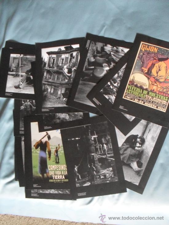 17 REPRODUCCIONES FOTOGRAFICAS DE LA GUERRA CIVIL EN ASTURIAS (Militar - Propaganda y Documentos)