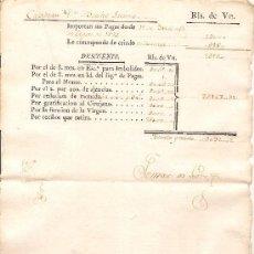 Militaria: HOJA DE SUELDOS DE UN CAPITÁN DEL EJÉRCITO ESPAÑOL DEL AÑO 1784. Lote 38174657