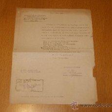 Militaria: DOCUMENTO DE COMISARIA GENERAL D'ORDRE PUBLIC, GENERALITAT CATALUNYA, GUERRA CIVIL. 1937. . Lote 38294264