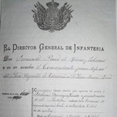 Militaria: DOCUMENTO MILITAR TARANCON 1886 - LICENCIA ABSOLUTA PARA LIBRARSE DEL SERVICIO.. Lote 38310689