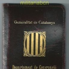 Militaria: CARNET DE IDENTIDAD Y TRABAJO. GENERALITAT DE CATALUNYA. CON FOTOGRAFÍA. 1938.. Lote 38340824
