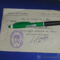 Militaria: REQUISICION MILITAR, CENSO 1950 1951. CAZORLA JAEN.. Lote 38399276