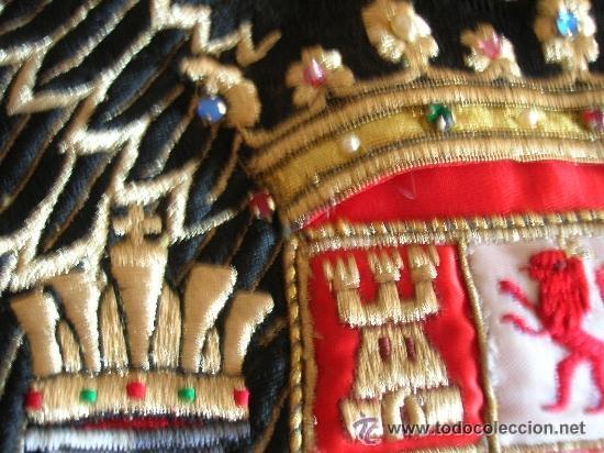 Militaria: ESCASA BANDERA BORDADA DE ESPAÑA. AGUILA SAN JUAN. EPOCA DE LA TRANSICIÓN. ORIGINAL DE EPOCA 100%. - Foto 7 - 38687791