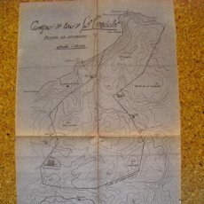 Militaria: 1947 PLANO AZOGRAFICO DEL CAMPO DE TIRO DE LOS CENDALES CEDEIRA LA CORUÑA. Lote 39399614