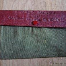 Militaria: CARTERA PARA DOCUMENTOS MILITAR DE TROPA DEL EJERCITO ESPAÑOL, CON NOMBRE Y AÑO 1942. Lote 39576558