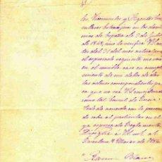 Militaria - BARCELONA,9/03/1882. CARTA MANUSCRITA Y OLOGRAFA DEL CAPITÁN GENERAL DE CATALUÑA AL CONSUL DE RUSIA - 39707493