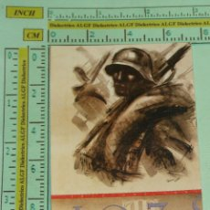 Militaria: PUBLICIDAD POLÍTICO / MILITAR. DIBUJO COMBATIENTE GUERRA CIVIL. B147. . Lote 39728129