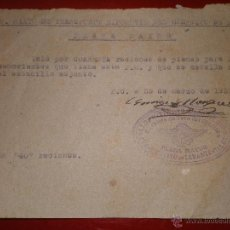 Militaria: DOS VALES.GUERRA CIVIL. BATALLON DE TRANSPORTE HIPOMOVIL DEL EJERCITO DE LEVANTE. Lote 39773367