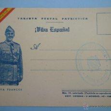 Militaria: POSTAL FRANCO. FALANGE. GUERRA CIVIL. Lote 39903154
