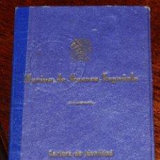 Militaria: CARTERA DE IDENTIDAD MARINA DE GUERRA ESPAÑOLA - JUNIO 1939 - TENIENTE AUDITOR PROVISIONAL ARMADA - . Lote 40111665