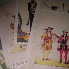 Militaria: LAMINAS DE SOLDADOS ESPAÑOLES DEL ALBUM HISTORICO DE MILICIA EUROPEA 1853,LOTE DE 5. Lote 40285727