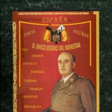 Militaria: DIPTICO FRANCO Y JOSE ANTONIO PRIMO DE RIVERA JONS ESPAÑA BANDERA. Lote 40490766