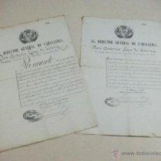 Militaria: 2 NOMBRAMIENTO DE SARGENTO SEGUNDO – AÑO 1876. Lote 40922646