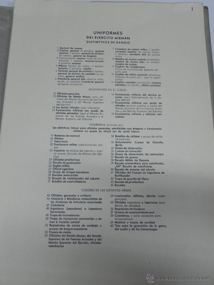 Militaria: CARPETILLA DIVISION AZUL DIE WEHRMACHT, UNIFORMEN UND DIESTGRADABZDEICHEN, HEER, KRIEGSMARINE, LUFTW - Foto 4 - 41261812