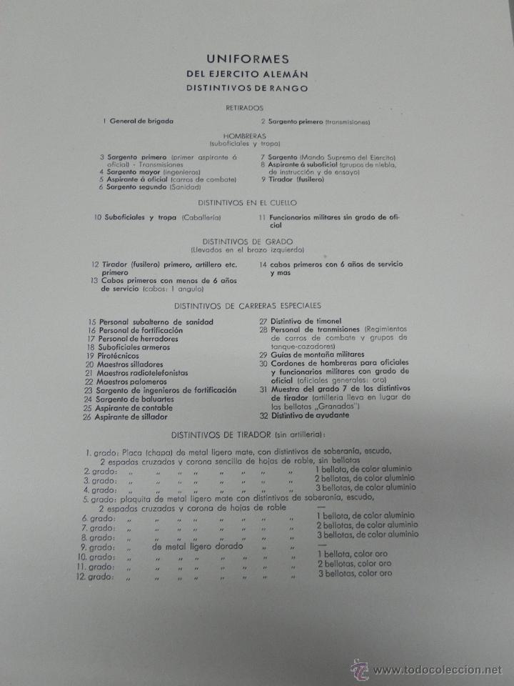 Militaria: CARPETILLA DIVISION AZUL DIE WEHRMACHT, UNIFORMEN UND DIESTGRADABZDEICHEN, HEER, KRIEGSMARINE, LUFTW - Foto 5 - 41261812