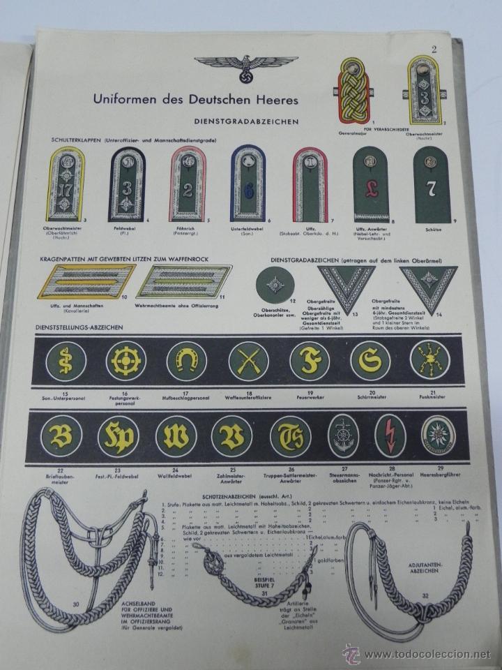 Militaria: CARPETILLA DIVISION AZUL DIE WEHRMACHT, UNIFORMEN UND DIESTGRADABZDEICHEN, HEER, KRIEGSMARINE, LUFTW - Foto 10 - 41261812