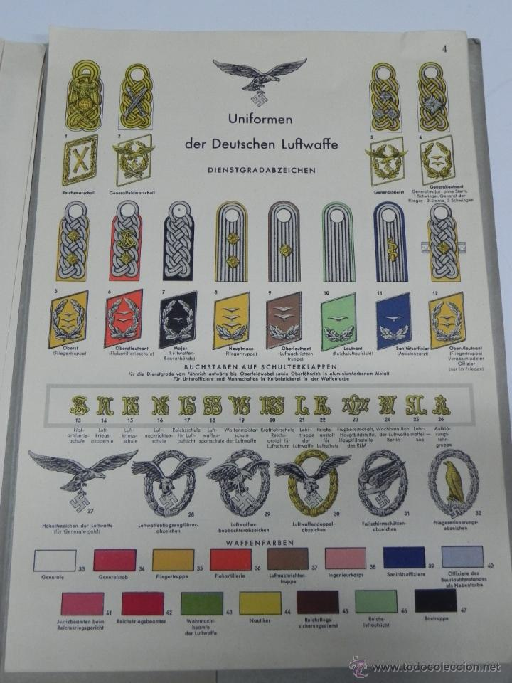 Militaria: CARPETILLA DIVISION AZUL DIE WEHRMACHT, UNIFORMEN UND DIESTGRADABZDEICHEN, HEER, KRIEGSMARINE, LUFTW - Foto 11 - 41261812