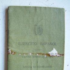 Militaria: CARTILLA MILITAR DE UN SOLDADO ESPAÑOL. REGTO. ARTILLERIA Nº72. SEVILLA, 1951... Lote 41283379