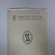 Militaria: CARNET SERVICIO SOCIAL CON COTIZACIONES O SELLOS VIÑETAS - (V-254). Lote 41325437