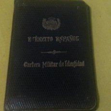 Militaria: CARTERA MILITAR DE IDENTIDAD EJERCITO ESPAÑOL ALUMNO ACADEMIA DE ARTILLERIA, EPOCA REY ALFONSO XIII. Lote 41372880