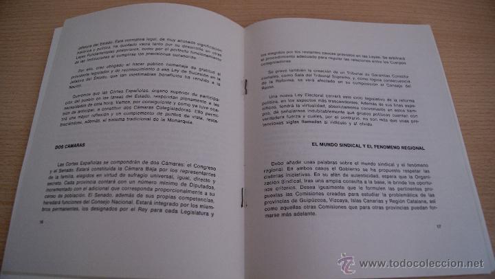 Militaria: LA VIA ESPAÑOLA DE LA DEMOCRACIA - CARLOS ARIAS NAVARRO Discurso 1976 Ediciones del Movimiento - Foto 2 - 41422507