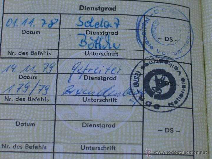 Militaria: Cartilla militar de un recluta. Alemania Oriental. 1978. - Foto 3 - 41438235