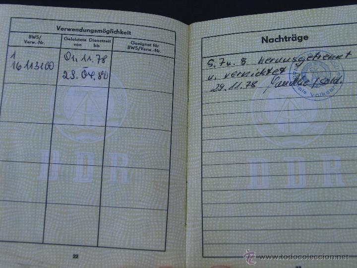Militaria: Cartilla militar de un recluta. Alemania Oriental. 1978. - Foto 4 - 41438235