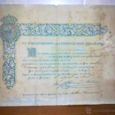 Militaria: MADRID, CONDECORACION MEDALLA HOMENAJE, FIRMA ORIGINAL, MIGUEL PRIMO DE RIVERA,. Lote 55731105