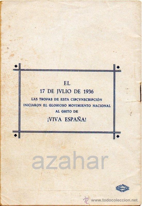 Militaria: 17 DE JULIO DE 1936 EN MELILLA, FALANGE ESPAÑOLA DE LAS JONS,16 PAGINAS - Foto 4 - 41473382