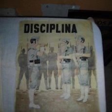 Militaria: CARTEL DISCIPLINA MANDO UNICO . Lote 41552740