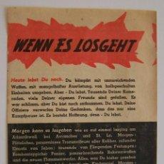 Militaria - II Guerra Mundial * folleto de la aviacion aliada para desmoralizar tropas alemanas * Circa 1944 - 41603481