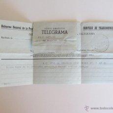 Militaria: ANTIGUO TELEGRAMA - GOBIERNO GENERAL DE LA PROVINCIA DE IFNI - POLICIA LOCAL - AÑO 1959 - . Lote 42430286