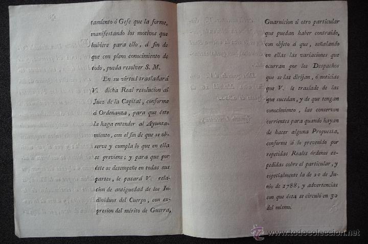 Militaria: (JX-1334)DOCUMENTO D.ANTONIO CORNEL,MADRID 1800,FIRMADO IGNACIO LANCASTER - Foto 2 - 42455560