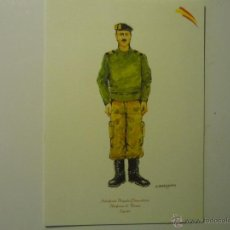 Militaria: CARTULINA TAMAÑO 21 X 15 DIBUJO SUBOFICIAL BRIGADA PARACAIDISTA UNIFORME FAENA. Lote 42462908