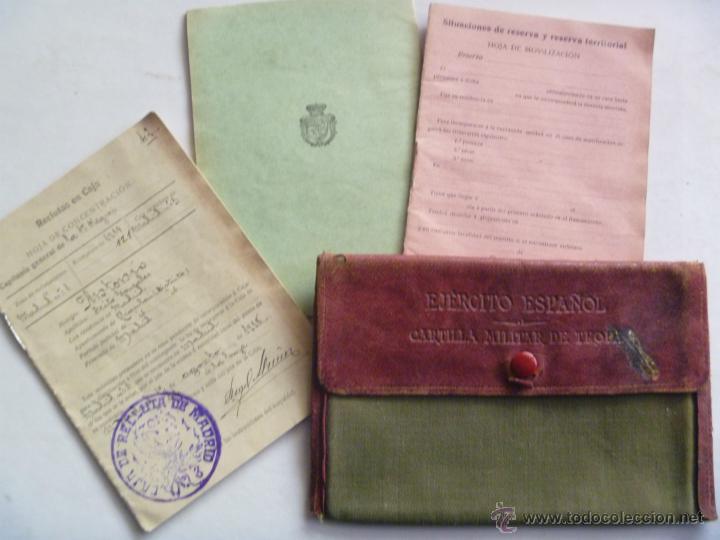 CARTILLA MILITAR, HOJA DE MOVILIZACION Y RESERVA. MADRID, 1918. CON SU FUNDA (Militar - Propaganda y Documentos)