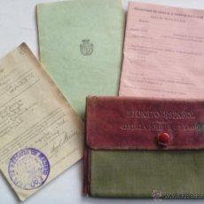Militaria: CARTILLA MILITAR, HOJA DE MOVILIZACION Y RESERVA. MADRID, 1918. CON SU FUNDA . Lote 42571609
